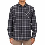 Rip Curl Mens Juanico Flannel Long Sleeve Button-Up-Black-S