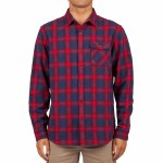 Rip Curl Mens Juanico Flannel Long Sleeve Button-Up-Navy-S