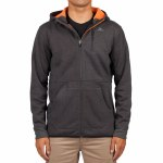 Rip Curl Mens Departed Anti Series Zip Hoodie-Charcoal-S