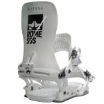 ROME Mens Katana Snowboard Binding-White-L/XL