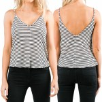 Rusty Koda Stripe Tank Top Womens-Black-M