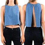 Rusty Alley Tank Top Womens-Vintage Indigo-S