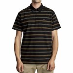 RVCA Mens Merced Polo Short Sleeve Polo Shirt-Black-S