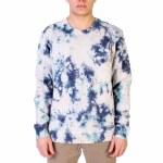 RVCA Mens Switch Tie Dye Crew Sweatshirt-Moody Blue-S