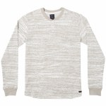 RVCA Mens Lush Long Sleeve Henley-Natural-S