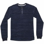 RVCA Mens Lush Long Sleeve Henley-Navy-S