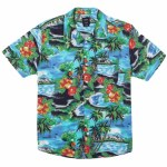 RVCA Mens Kawela Short Sleeve Button-Up-Floral-S