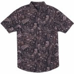 RVCA Mens Tangier Paisley Short Sleeve Button-Up-Multi-S