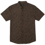 RVCA Mens No Fun Short Sleeve Button-Up-Bombay Brown-S