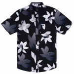 RVCA Mens Halftone Pack Short Sleeve Button-Up-Black-S