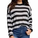 RVCA Womens Hangout Sweater-Black-S