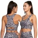 RVCA Womens VA Essential Bra Bikini-Grey Leo-S