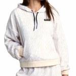 RVCA Womens VA Essential Hoodie-White Zebra-S