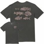 RVCA Mens Dead See Short Sleeve T-Shirt-Pirate Black-S