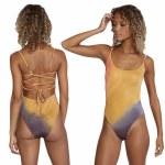 RVCA Womens Trippy Dana Cheeky One Piece Bikini-Multi-S