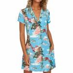 RVCA Womens Island Time Dress-Horizon Blue-S