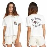 RVCA Womens Forever Short Sleeve T-Shirt-Vintage White-S