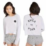 RVCA Womens RVCA Balance Long Sleeve T-Shirt-Lavender-S