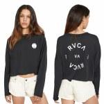 RVCA Womens RVCA Balance Long Sleeve T-Shirt-Black-S