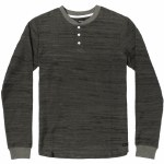 RVCA Mens Lush Henley Long Sleeve Top-Olive-M