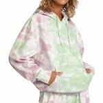 RVCA Womens Little RVCA Tie Dye Hoodie-Multi-S