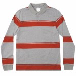 "RVCA Kevin ""Spanky"" Long Rugby Long Sleeve Shirt-Grey Noise-S"