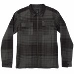 RVCA Lamar Long Sleeve Woven Shirt-Black-S