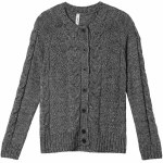 RVCA Pavement Button Up Cardigan Womens-Black-M