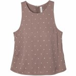 RVCA Shieldless Woven High Neck Shell Tank Top Womens-Mauve-S