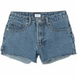 RVCA Highly Werked Denim Short Womens-Vintage Indigo-30