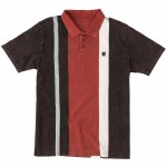 RVCA Remastered Short Sleeve Polo Shirt-Oil Grey-M