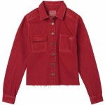 RVCA Daze Denim Shirt Womens-Garnet-S