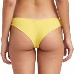 RVCA Solid Cheeky Bikini Bottom-Mustard-M