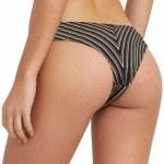 RVCA Amalfi Cheeky Bikini Bottom-Black-L