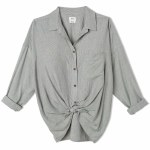 RVCA Charlie Stripe Long Sleeve Top-Black-S