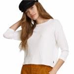 RVCA Womens Lowry Long Sleeve Top-White-M