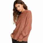 RVCA Womens Volt Sweater-Nutmeg-M