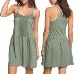 Roxy White Beaches Dress Womens-Olive-M