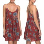 Roxy Tropical Sundance Dress Womens-Tandoori Spice Velvet Tribes-XS