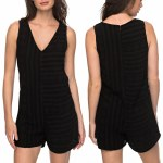 Roxy By My Side Romper Womens-Anthracite-M