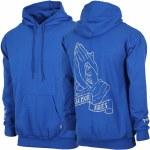 Salmon Arms Mens Prayer Hoodie-Blue-L