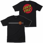 Santa Cruz Classic Dot Chest Short Sleeve T shirt-Black-XL