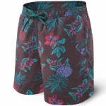 Saxx Cannonball 2 in 1 Short-Red Pineapple Party-L