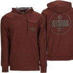Sessions Nighthawk Pullover Hoody-Maroon-XL
