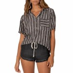 SisstrEvolution Striped Out Short Sleeve Top-Black-M