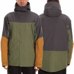 686 Mens Stretch Gore Tex Zone Thermagraph Jacket-Surplus Green Colorblock-M