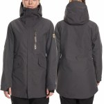 686 Womens Moonlight Gore Tex Insulated Jacket-Charcoal Texture-L