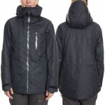 686 Womens Cloud Down Thermagraph Jacket-Black Outline-M
