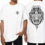 Sketchy Tank Mask Short Sleeve T Shirt-White-S