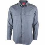 Spacecraft Milo Long Sleeve Flannel Shirt-Gray-L
